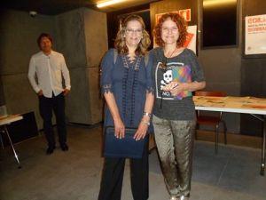 Antes del comienzo de la jornada con Beatriz Celaya, organizadora del evento junto a Elena Sierra.