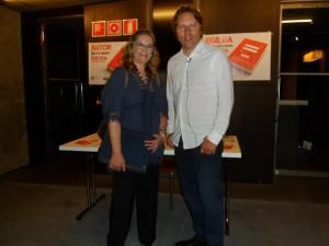 Con Christian Damke antes del comienzo del evento.