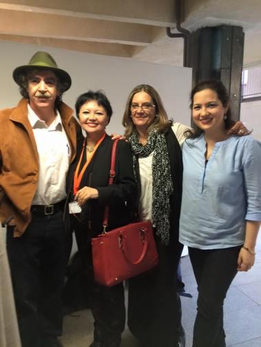 Con Blanca Miosi, Rafael R. Costa y Kristel Ralston