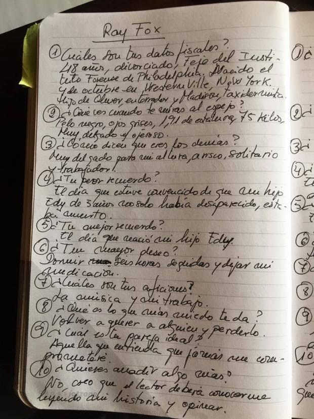 Cómo crear personajes literarios: Ficha técnica de Ray Fox